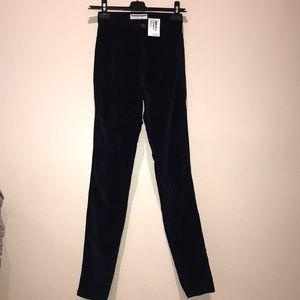 Navy velvet America apparel jeans